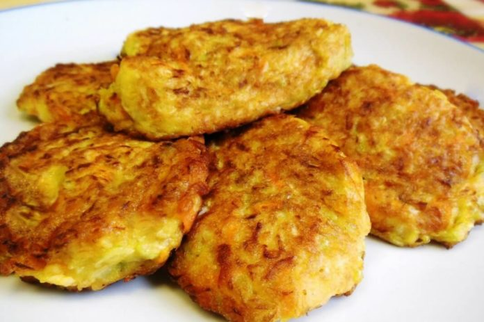 капустные оладьи с сыром